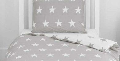 Fundas nórdicas infantiles con estrellas La cama de mi peque, lacamademipeque, haciendoelindio, happy star, El Corte Inglés, Costuratex, Luna Textil, punthogar, tonicahogar,